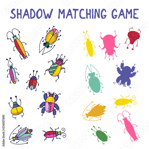 Shadow matching game bugs