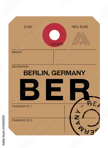 berlin airport luggage tag