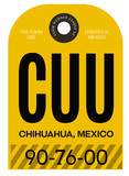 Chihuahua airport luggage tag