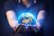 Hands Holding Planet  - Earth Day Concept - 3d Rendering - Europe And Africa elements of this image furnished by NASA