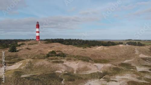 Drohnenflug am Leuchtturm der Insel Amrum