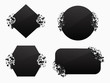 Set of black explosion black banners - 256051848