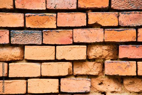 Brick wall background, grunge background - 256061899