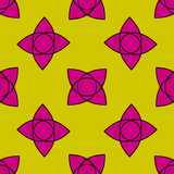 Seamless pattern with colorful flowers. Floral ornament background. Vector illustration.   - 256066697