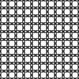 Black and white seamless pattern with lace, grid, thin line geometric shapes, texture infinity. Abstract geometrical background. Vector illustration.  - 256067234