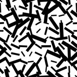 Abstract messy textured grunge seamless pattern with sticks, squares. Geometric shapes. Vector illustration.     - 256067488