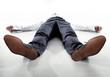 Leinwanddruck Bild - Tired businessman having a nap - isolated