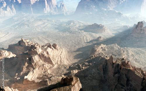 Majestic Canyon Landscape Rendering