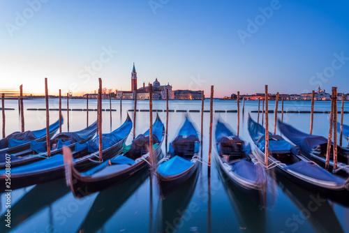 Venice Italy Gondola view from San Marco Piazza © Dario