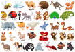 Set of cartoon animal - 256093288