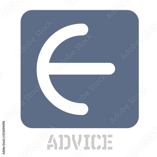 Advice concept icon on white