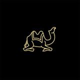 Fototapeta Dinusie - amel logo design template,vintage camel vector illustration © Alpha Vector