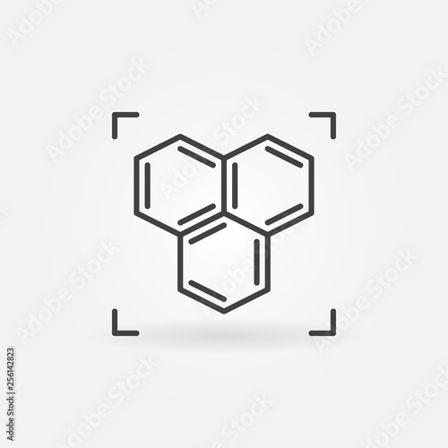 Chemical structure or formula vector concept icon or symbol in thin line style