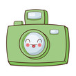 photographic camera kawaii cartoon