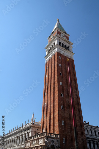 Campanile, Bell Tower of St. Mark's Basilica, Venice, Italy, UNESCO World Heritage Sites