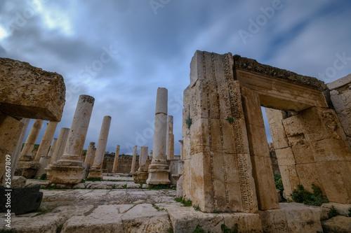 Old Roman city Jerash ruins in Jordan