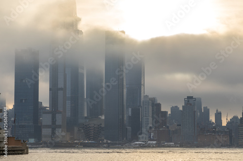 New York Skyscrapers Covered In Cloud