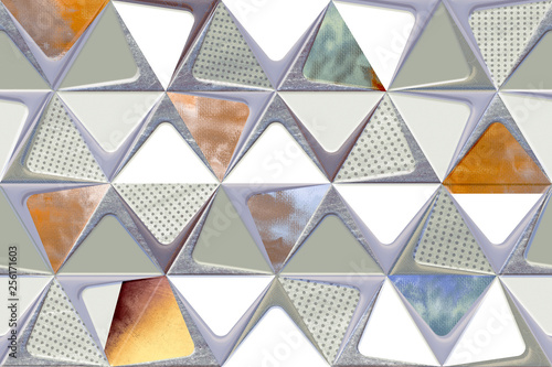 Wall decorative art wall design pattern, - 256171603