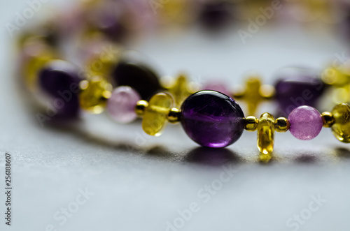 Amethyst and Amber jewellery