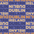 Dublin, Ireland seamless pattern - 256196272