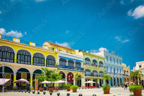 obraz PCV La Habana vieja, ciudad turistica de cuba.
