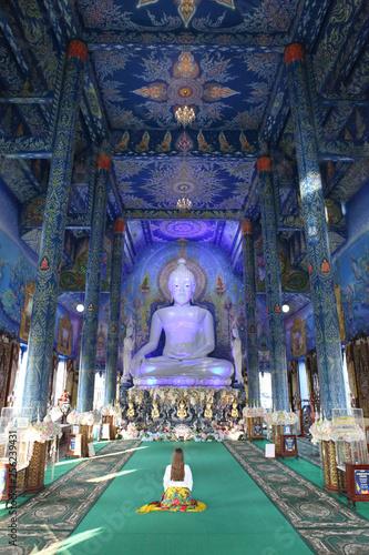Wat Rong Suea Ten (Blue Temple) in Chiang Rai (Thailand)