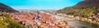 Leinwanddruck Bild - Heidelberg panorama in summer, Baden-Wurttemberg, Germany
