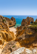 "Постер, картина, фотообои ""Beach near Lagos - Algarve Portugal"""