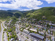 Aerial view of Park City on Main Street in Park City, Utah, USA. - 256250032