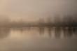 Foggy river dawn