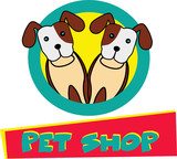 Cute Dogs petshop logo