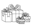 gifts boxes presents icon