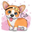 Cute Fox with bubble gum