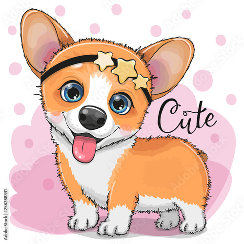 fototapeta na ścianę Cute Fox with bubble gum