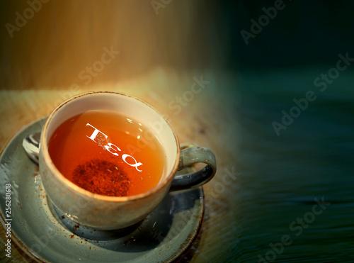 Macro photo photo of delicious herbal tea