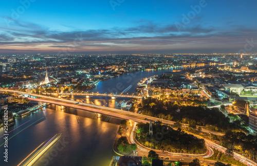 Fototapeten Bangkok Bangkok landscape Chao Phraya River