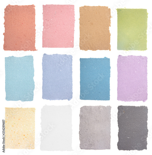 A Collection of Various Colors of Handmade Paper