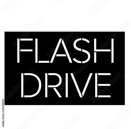 Flash Drive stamp on white