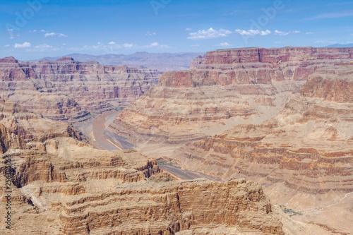 Vista das formações rochosas do Grand Canyon Las Vegas