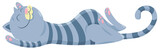 happy sleeping cat cartoon character