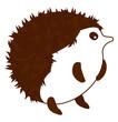 Porcupine vector color illustration.