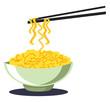 Noodles vector color illustration. - 256316248