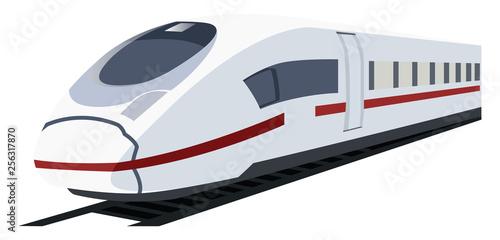 Vector illustration of white metro train.