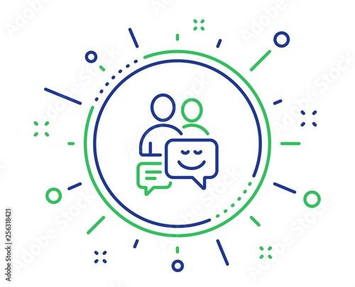 Group of Men line icon. Human communication symbol. Teamwork sign. Quality design elements. Technology communication button. Editable stroke. Vector