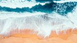 Aerial view of Waves and Beach of Great Ocean Road Australia