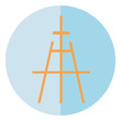 A painter's easel stand vector or color illustration
