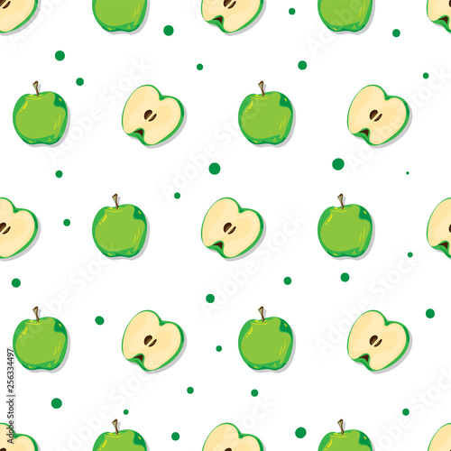 fruit pattern background graphic apple - 256334497