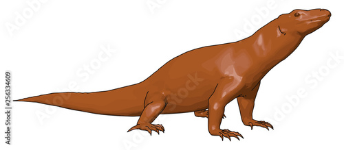 Dinosaur scary wild reptile vector or color illustration