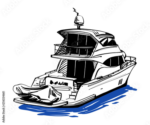 vector illustration of boat