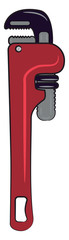 A wrench used by mechanics vector or color illustration © Morphart